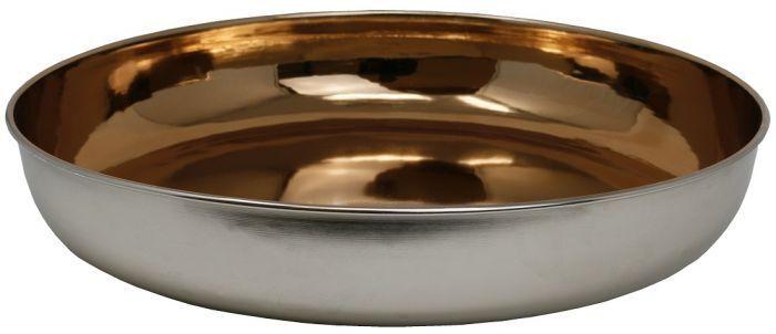 Schale Mexa, Mexa, Mexa, Metall, silber kupfer, 45 cm, Dekoschale Tischdeko Obstschale Deko 3b3f14