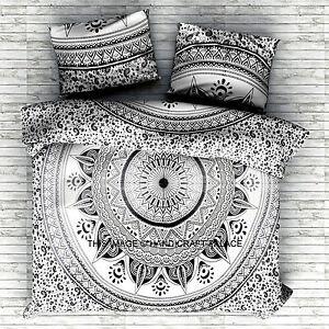 Indian Black Ombre Mandala Duvet Cover Comforter Doona