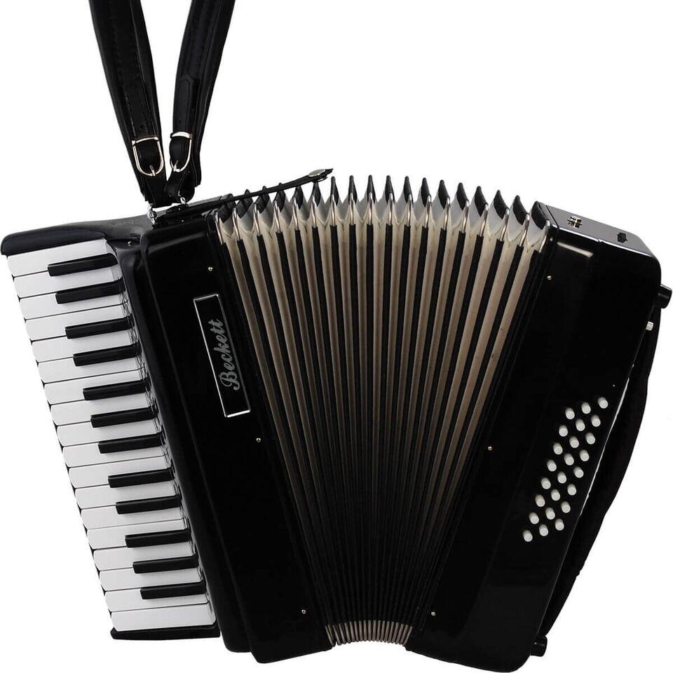 Andet, Beckett JH2024 piano-harmonika sort