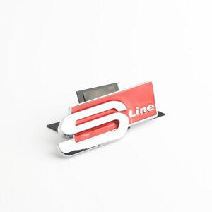 AUDI-S-line-Sline-Chrome-Red-Boot-logo-du-coffre-arriere-aluminium-Sticker-Embleme