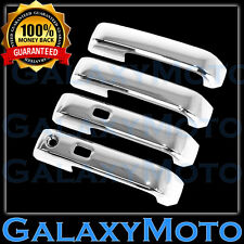 15-16 Ford F150 Truck Triple Chrome 4 Door handle Cover WITH Smart Keyhole Kit