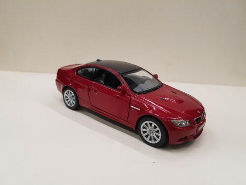 BMW M3 Rojo Oscuro Kinsmart Modelo Juguete 1//36 Escala Coche de Metal Regalo