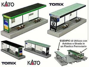 KATO-TOMIX-KIT-N-2-AUVENTS-pour-ARRETER-BUS-avec-DECALCOMANIES-ECHELLE-N