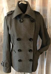 retail prices new lower prices new authentic Details zu TOM TAILOR Denim Damen Jacke / Kurzmantel schickes Design grau  anthrazit M Wolle