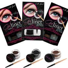 L.A. LA Girl Gel Liner Kit Eyeliner Eye w/ Brush 3 Color Choises
