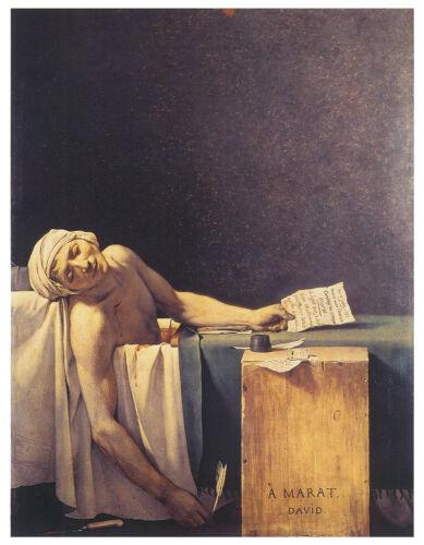 Art Canvas//Poster Print A3//A2//A1 1793 David Death of Marat
