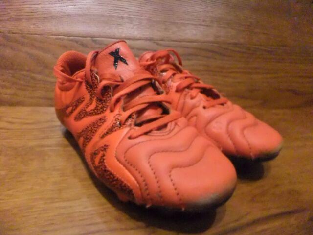 Boys Adidas X 15.3 FG Football Boots Size UK 2 EUR  34