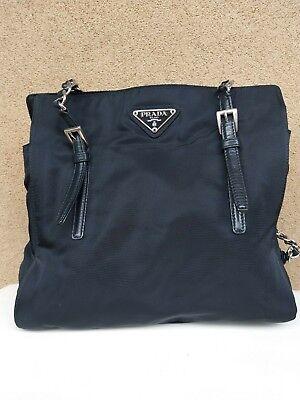 PRADA: Borsa a spalla in tessuto nera autentica | eBay
