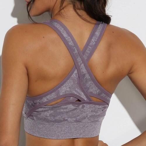 Women Seamless Yoga Suit Crop Top Pants Leggings Gym Sports Workout Stretch Set