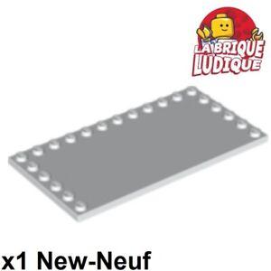 Lego-1x-Tile-Modified-plaque-lisse-6x12-6x12-studs-on-edge-blanc-white-6178-NEUF