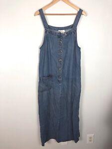 06115941f8 Image is loading Vintage-Talbots-Maxi-Jean-Dress-Sleeveless-Size-M