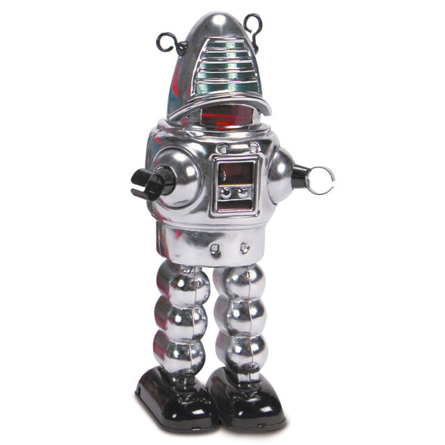 CHROME PLANET ROBOT VINTAGE COLLECTABLE TOY ROBOT