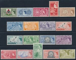 1953-1962-BERMUDA-DEFINITIVES-SET-OF-18-MINT-MH-amp-MLH-SG135-SG150