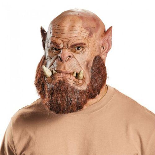Warcraft Ogrim Masque Ork FAE Latex Carnaval Déguisement Costume Seigneur de Guerre NEUF