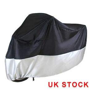 M-Large-Motorcycle-Waterproof-Outdoor-Motorbike-Rain-Bike-Cover-Black