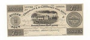 Champlain-amp-St-Lawrence-Rail-Road-Lower-Canada-15-Sous-7-Pence-Half-Penny