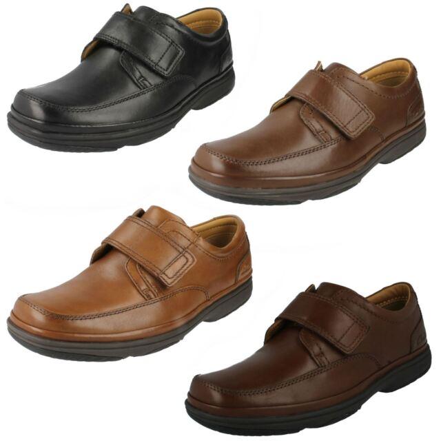 c4657c1108b Mens Clarks Extra Wide Fitting Riptape Strap Shoes Swift Turn Black ...
