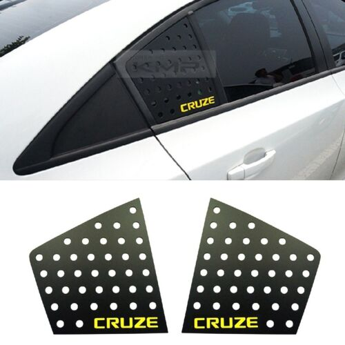 C Pillar Window Glass Sports Plate Molding Yellow Logo For CHEVY 08-16 Cruze 4dr