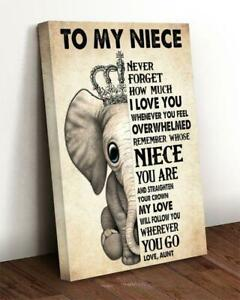 Elephant Mom Always Remember You Are Braver CANPO75 Portrait Canvas .75in Framed
