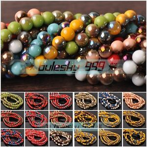 NEW-Wholesale-4mm-6mm-8mm-Round-Crystal-Glass-Charms-Loose-Spacer-Beads-Findings