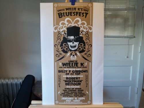 Uncle Willie K/'s BBQ Bluesfest poster