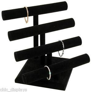 Image Is Loading 4 Tier T Bar Velvet Bracelet