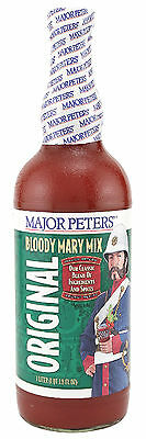Major Peters' Original Bloody Mary Mix - 1 Liter - Bar Pub Drink Tomato Flavor
