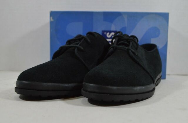 b5928d9251a Vintage 90s New Keds Womens Size 6 Moor Oxford Leather Lace Up Shoes Black