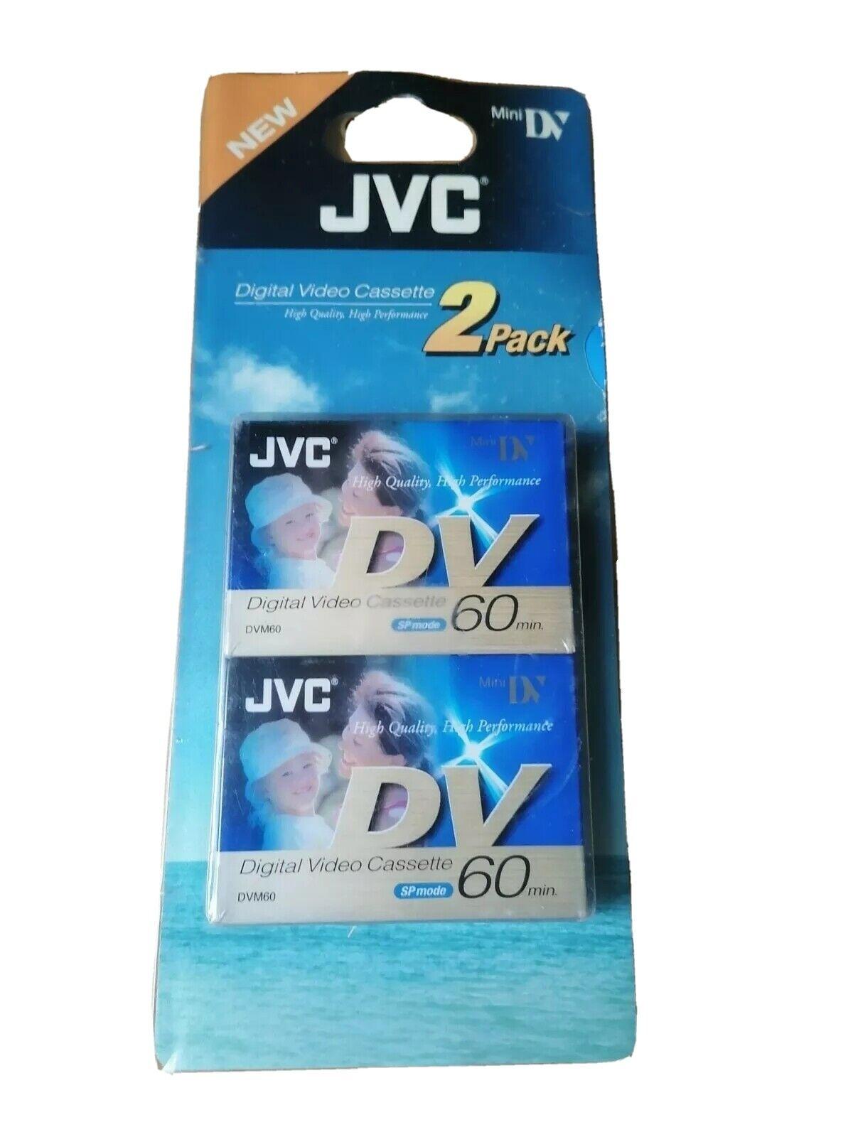 2 pack JVC Mini Digital Video Cassette Brand New sealed (Free UK Shipping)