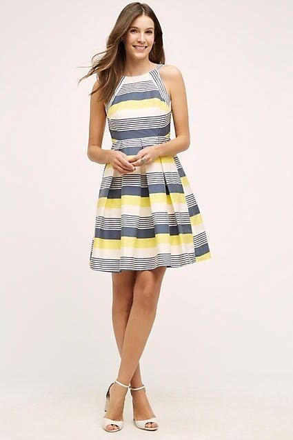 Anthropologie Canary Lined Dress by Eva Franko Sz 8 Petite  168