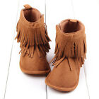 Infant Baby Toddler Boy Girl Cowboy Tassel Snow Boots Moccasin Shoes US 3 4 5