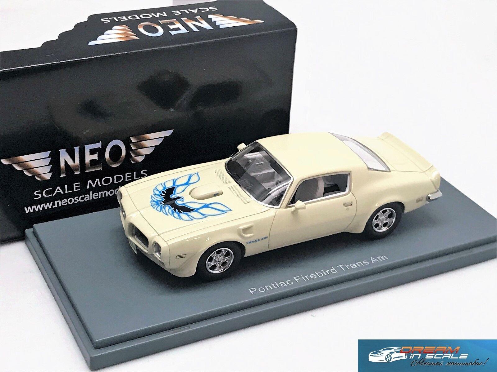Pontiac Firebird Trans Am blancoo 1973 NEO 44745 1 43