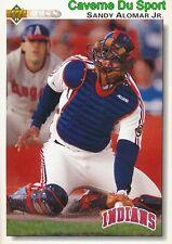 156 SANDY ALOMAR JR. CLEVELAND INDIANS  BASEBALL CARD UPPER DECK 1992