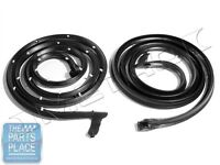 1963-64 Gm B Body Door Weatherstrip Seals Pair - Lm20a