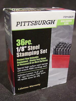 1 8 Quot Steel Metal Letter Alphabet Amp Number Stamping Stamp Punch Set Plastic Case 792363606707 Ebay
