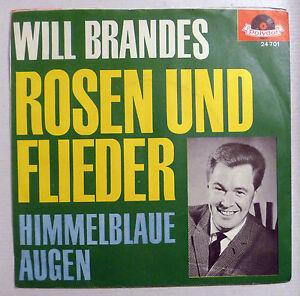 COVER-ONLY-WILL-BRANDES-034-Rosen-und-Flieder-034-D-orange-POLYDOR-PS-VG-60er