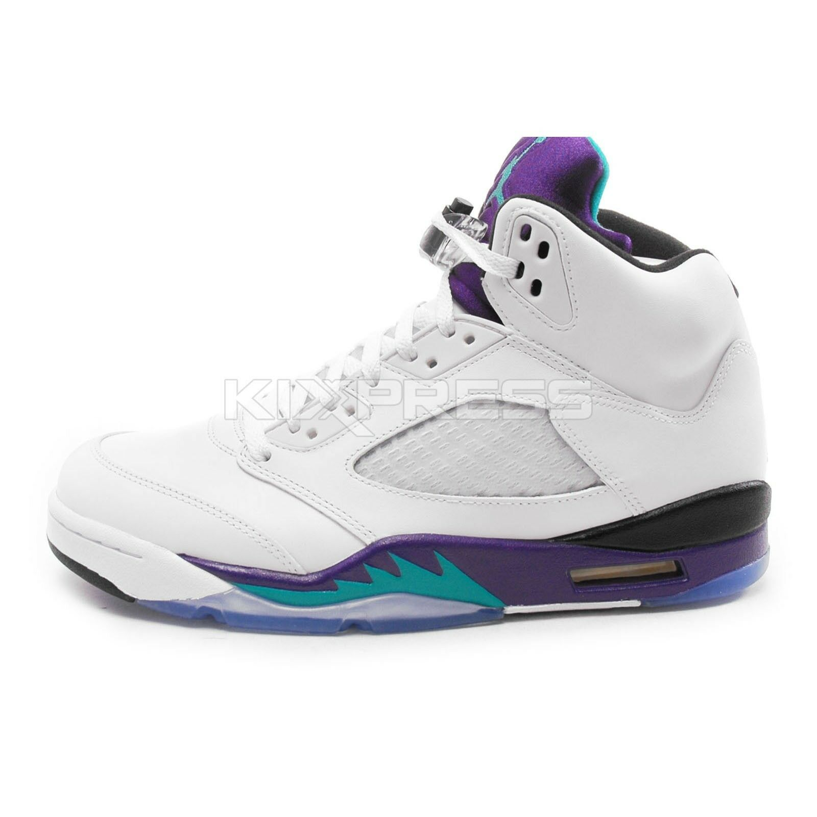 Nike Air Jordan 5 Retro Price reduction Basketball White/New Emerald-Grape Ice Special limited time