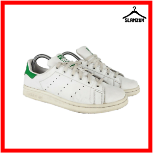 Details zu Adidas Adicolor Stan Smith Mens Trainers White Green Leather UK 5.5 38 Sneaker