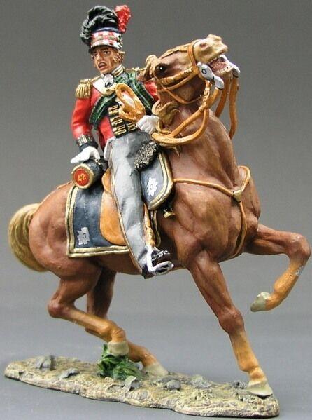 King & Land The Age Of Napoleon NA047 Berittener 42ND Schwarz Armbanduhr
