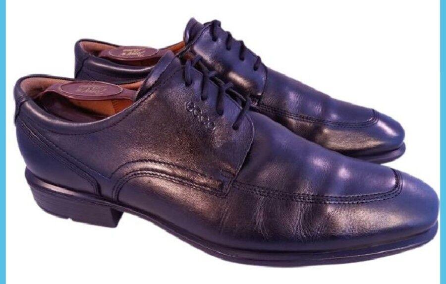 Ecco man shoes black leather oxfords Eur 46  US 12 excellent condition