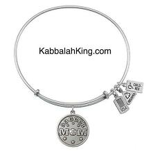 Wind & Fire Soccer Mom Charm Silver Expandable Bangle Bracelet Made In USA
