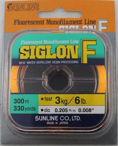SUNLINE SIGLON F FLOURESCENT MONOFILAMENT LINE 6# TEST 330 YARDS ORANGE