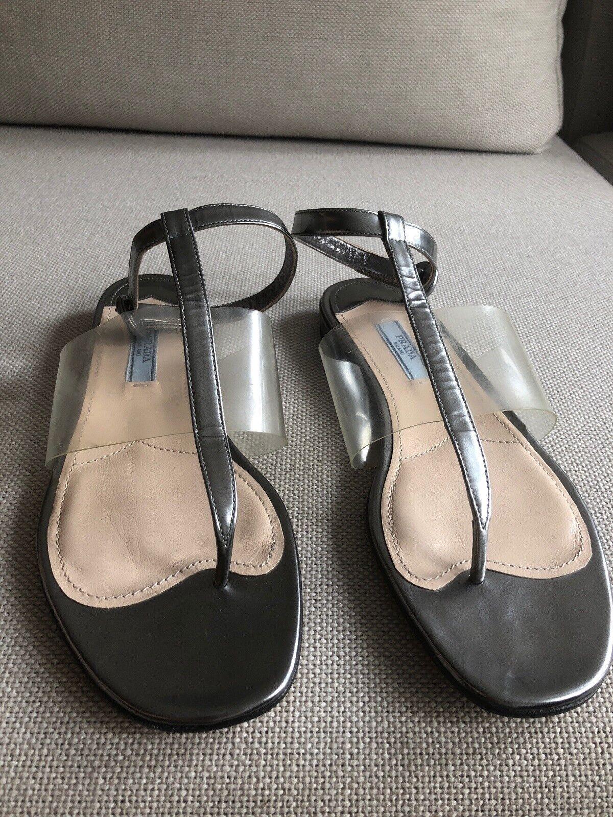 Prada ny ny ny  570 Sandal silver och genomskinlig  bara för dig