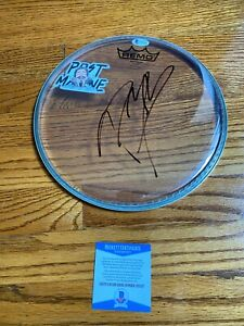 POST-MALONE-SIGNED-CLEAR-10-034-CUSTOM-REMO-DRUMHEAD-AUTOGRAPH-BAS-COA-STONEY