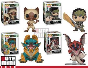Funko Pop Monster Hunter Zinogre Rathalos Felyne Set Of 4
