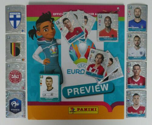 Panini EURO 2020 Preview Sticker zum aussuchen deutsche Ausgabe