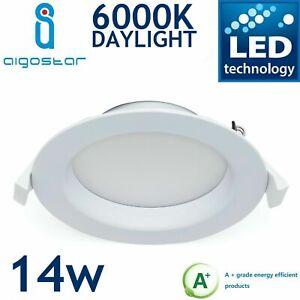 Daylight Del 14 W Clair Downlight Plafond Encastré Luminaire Lampe 860 1000 Lm-afficher Le Titre D'origine Surface LustréE