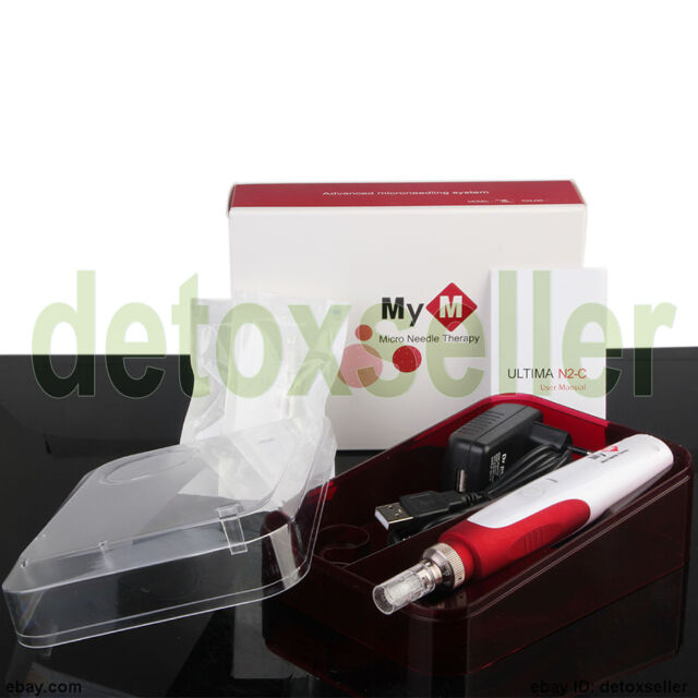 Electric Derma Pen Stamp Auto Facial Micro Needle Roller Anti Aging Skin Therapy