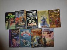 Lot of 9 Science Fiction Books, Dan Simmons,T.S. Rue, Anne Rice,Arthur C.Clarke