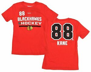 c5439d2c56a Reebok NHL Youth/Kids Chicago Blackhawks Patrick Kane #88 Player Tee ...
